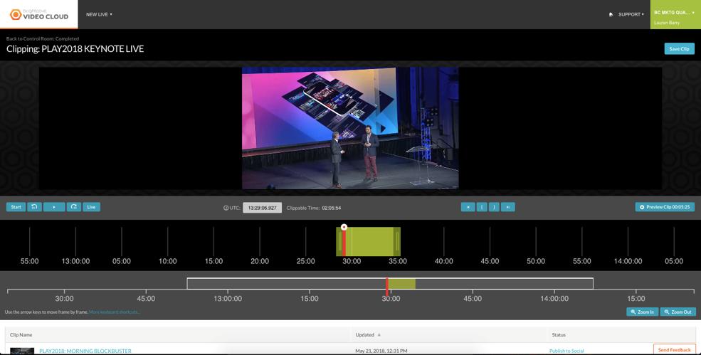 keynote clipping live stream